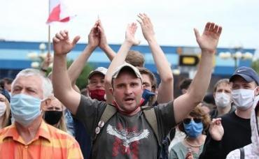 На фото: пикет  в Минске