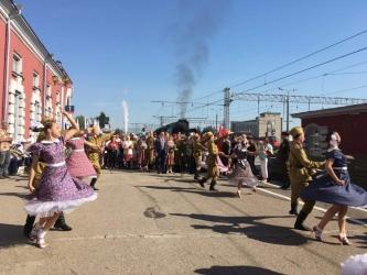 В Курской области продолжает курсировать «Поезд Победы»