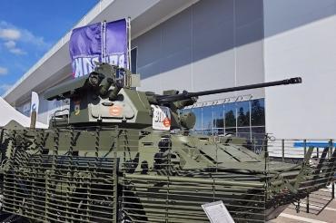 """БТР-82АТ с новым ракетно-пушечным модулем показали на """"Армии-2020"""""""