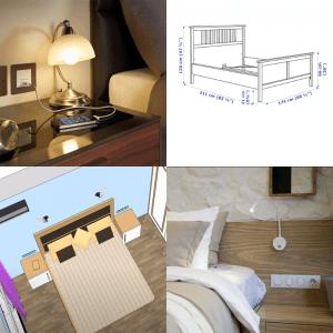 Как правильно расположить розетки и выключатели света в прикроватной зоне
