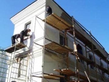 Ремонт поврежденного фасада здания?