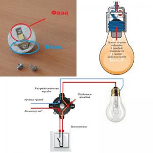 Есть ли разница как подключать провода к патрону люстры?