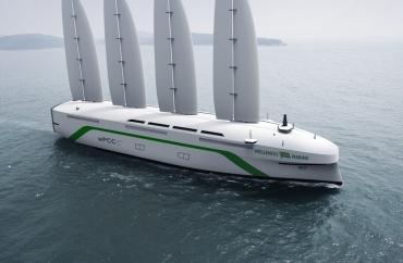 Шведы построят 200-метровый трансатлантический грузовой корабль с ветряной тягой