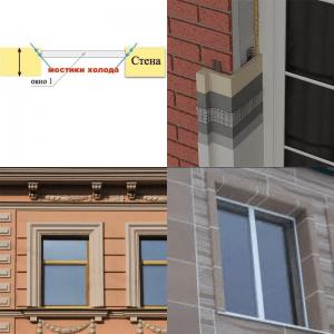 Утепление окон с помощью термооткосов снаружи