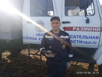 На хуторе под Курском нашли военный артснаряд