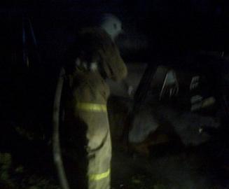 В селе под Льговом Курской области сгорел «ВАЗ»
