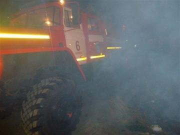 В Курске на Басьяновской горел гараж
