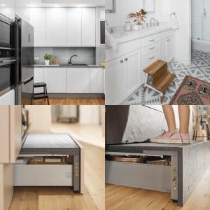 Как дотягиваться до кухонных шкафов, если они до потолка