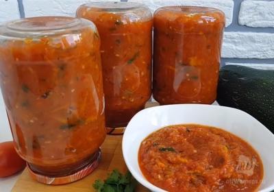 Аджика из кабачков на зиму: рецепты пальчики оближешь с томатной пастой, болгарским или острым перцем. Бонус: рецепт кабачковой аджики с яблоками