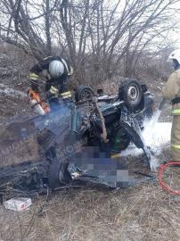 В Курской области пьяный водитель, удирая от полиции, влетел в дерево и погубил пассажира