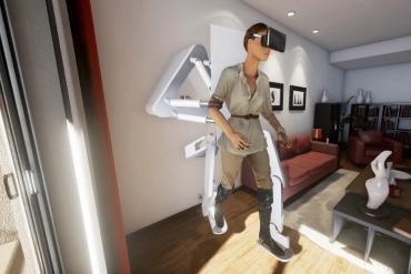 Инженеры разрабатывают подвесной VR-экзокостюм для полного физического погружения