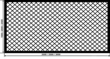 Оцинкованная сварная сетка для забора в рулонах 50х50 и других размеров