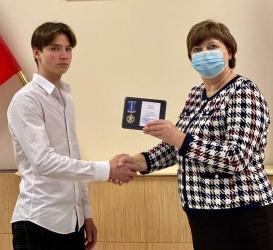 В Курске учащемуся школы №32 вручили медаль «За проявленное мужество»