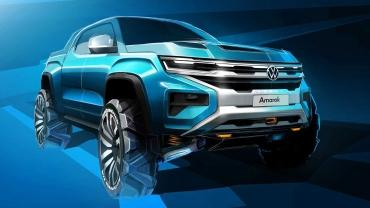 Облик нового пикапа Volkswagen Amarok подвергся коррекции