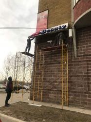 В Курске на проспекте Победы демонтируют 21 рекламную конструкцию
