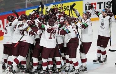 Сборная Латвии победила Канаду