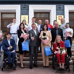 Роман Старовойт встретился с победителями и призерами спортивных соревнований