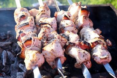 Шашлык из курицы с корейкой