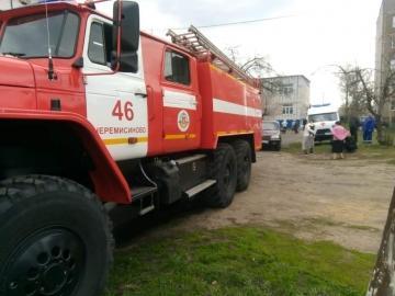 В Курской области 2 мая в квартире сгорело потолочное перекрытие