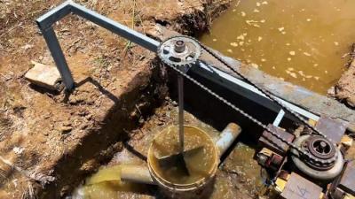 Как сделать мини ГЭС 220В на ручей из хлама