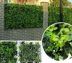 Искусственная декоративная изгородь из растений для забора в рулонах