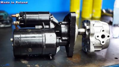 Как сделать мощный гидропривод из стартера и масляного насоса от трактора