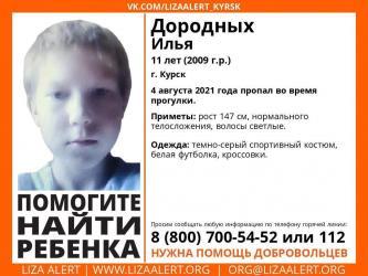 В Курске во время прогулки пропал 11-летний мальчик