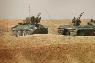 БТР-70 со спаренной 23-мм пушкой применяли в Афганистане