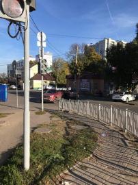В Курске на улице Никитской столкнулись две иномарки